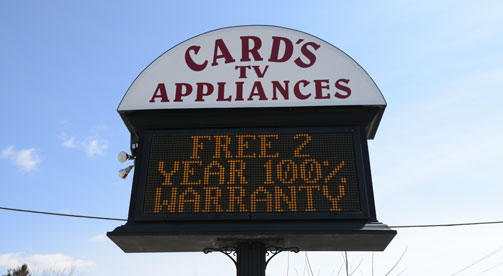 Cards TV Appliances